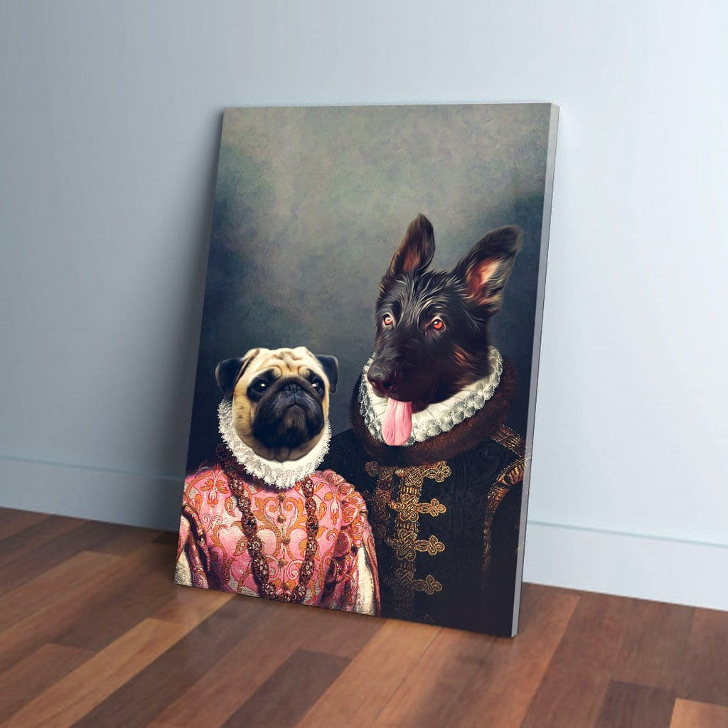 'Duke and Archduchess' Personalized 2 Pet Canvas