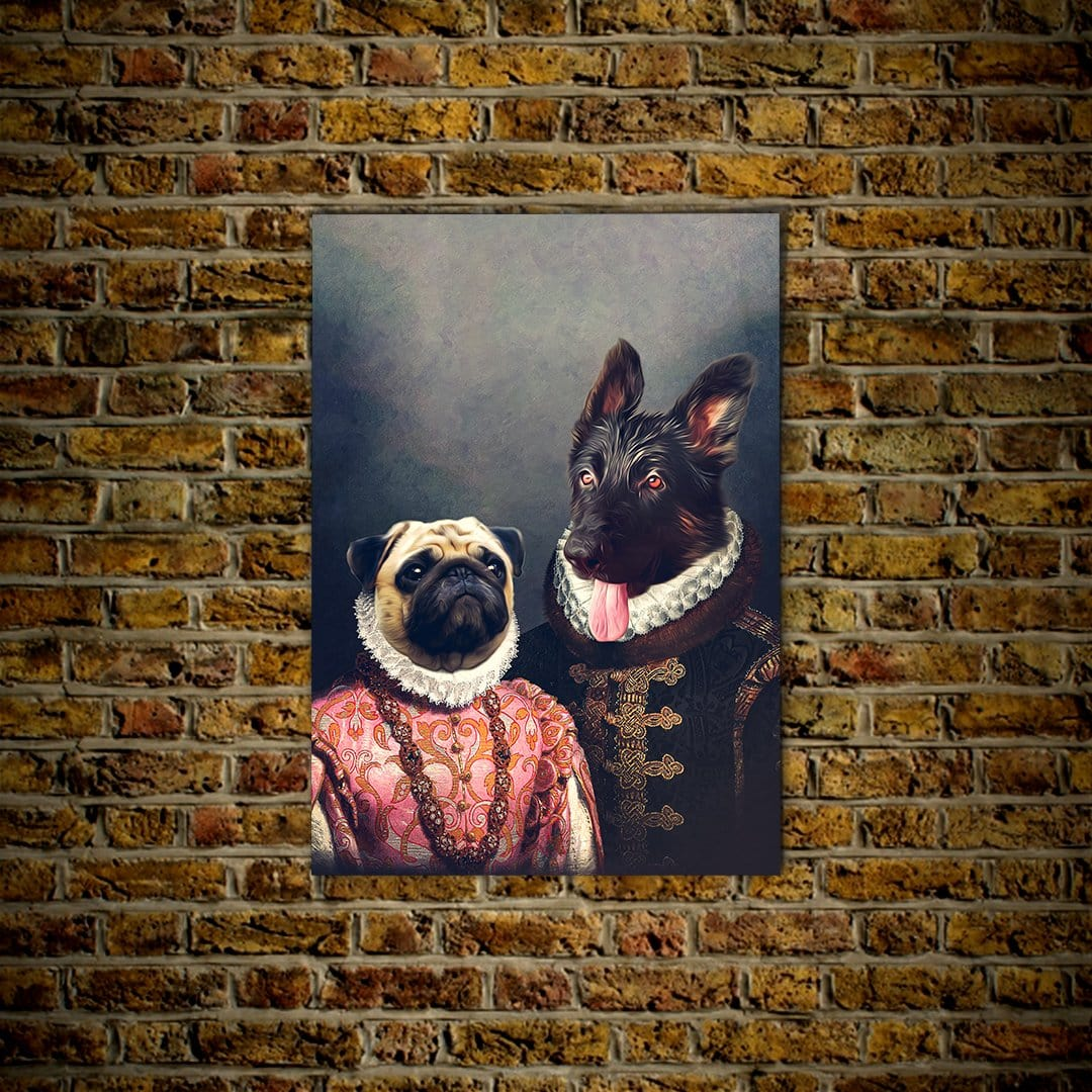 Duke and Archduchess: Personalized 2 Pet Poster