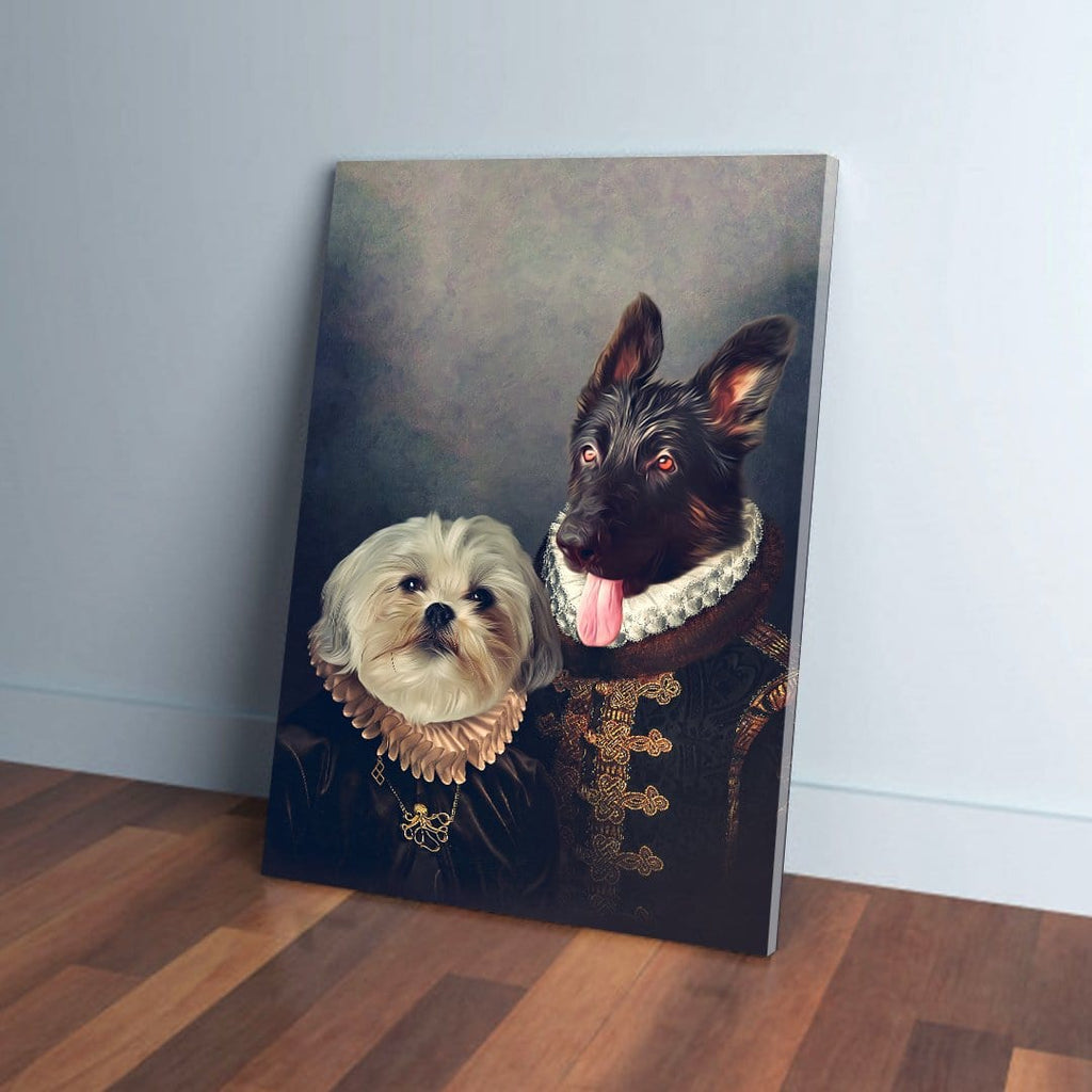'Duke and Duchess' Personalized 2 Pet Canvas