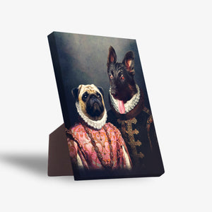 'Duke and Archduchess' Personalized 2 Pet Standing Canvas