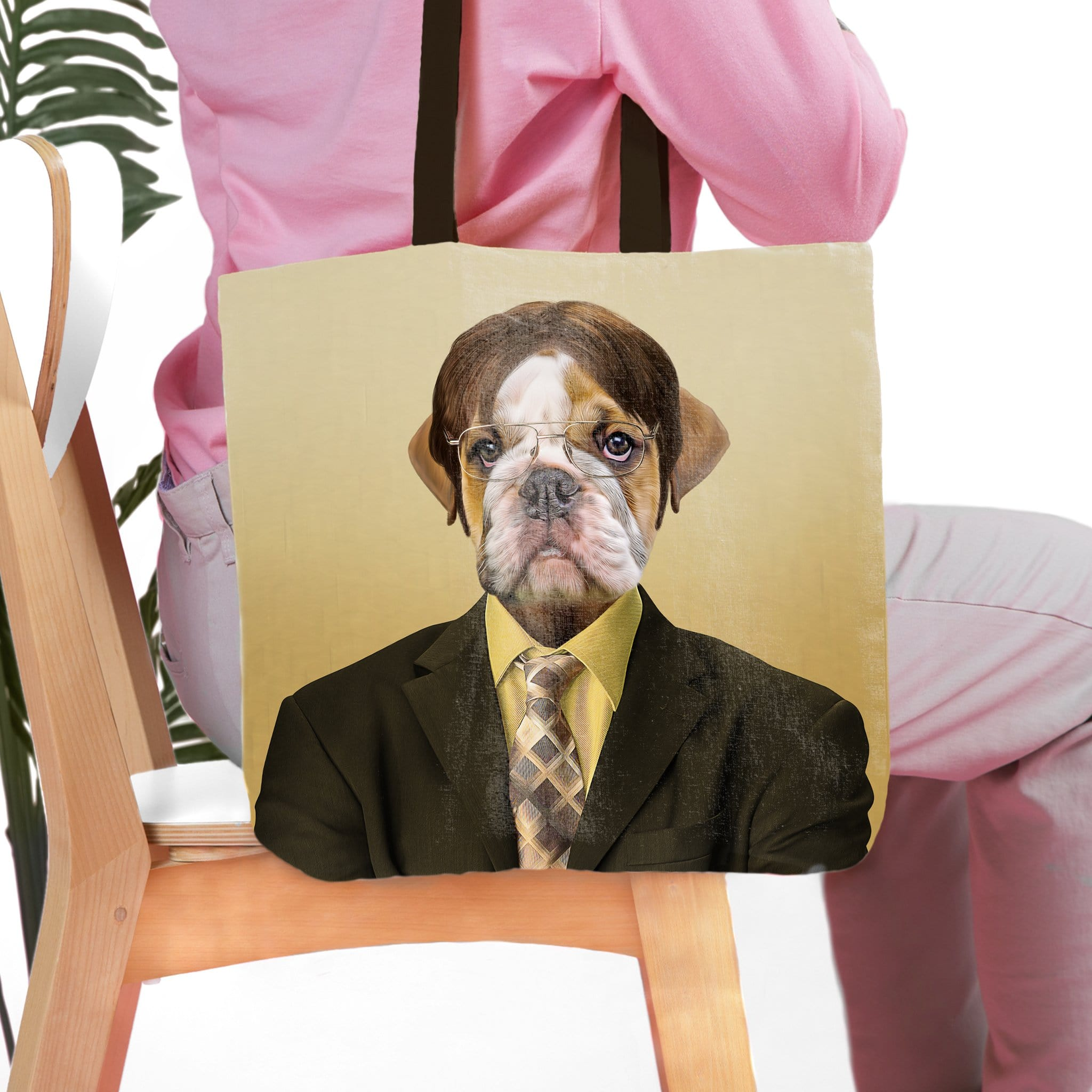 'Dwight Woofer' Personalized Pet Tote Bag