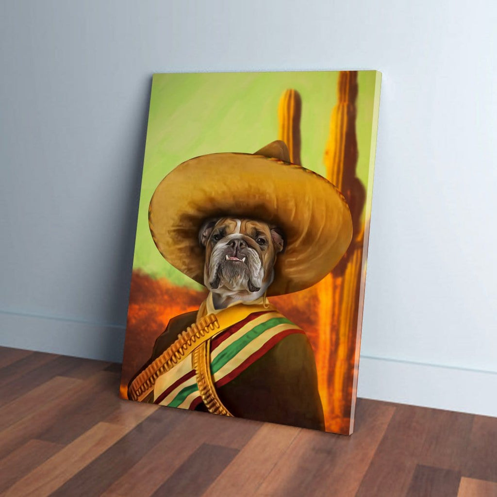 'El Jefe' Personalized Pet Canvas