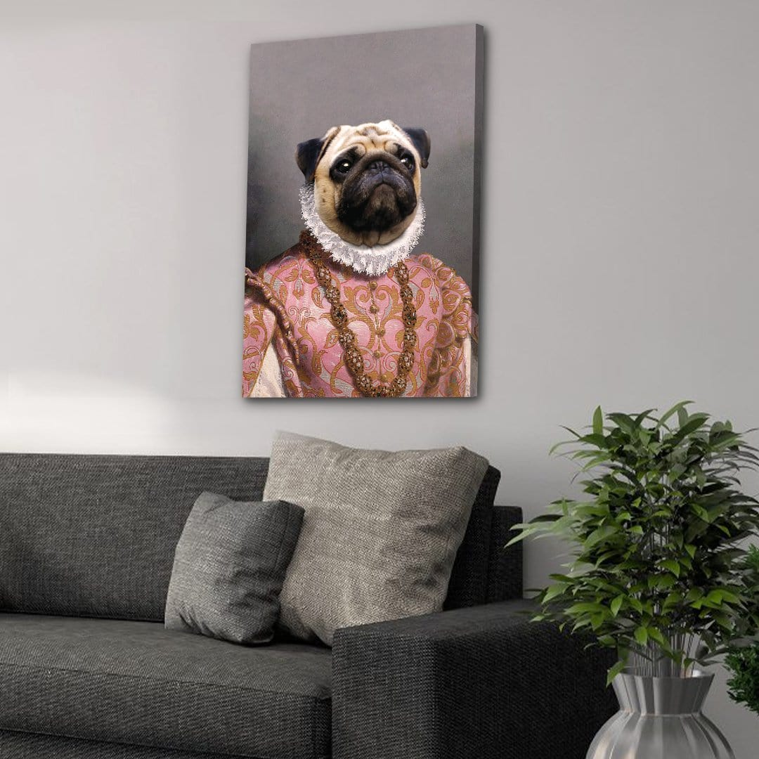 The Archduchess: Personalized Pet Canvas