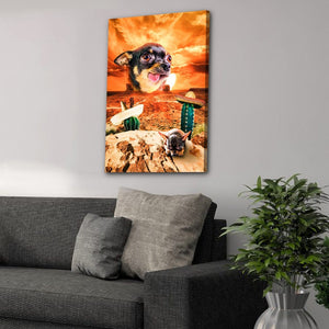 'Mexican Desert' Personalized Pet Canvas