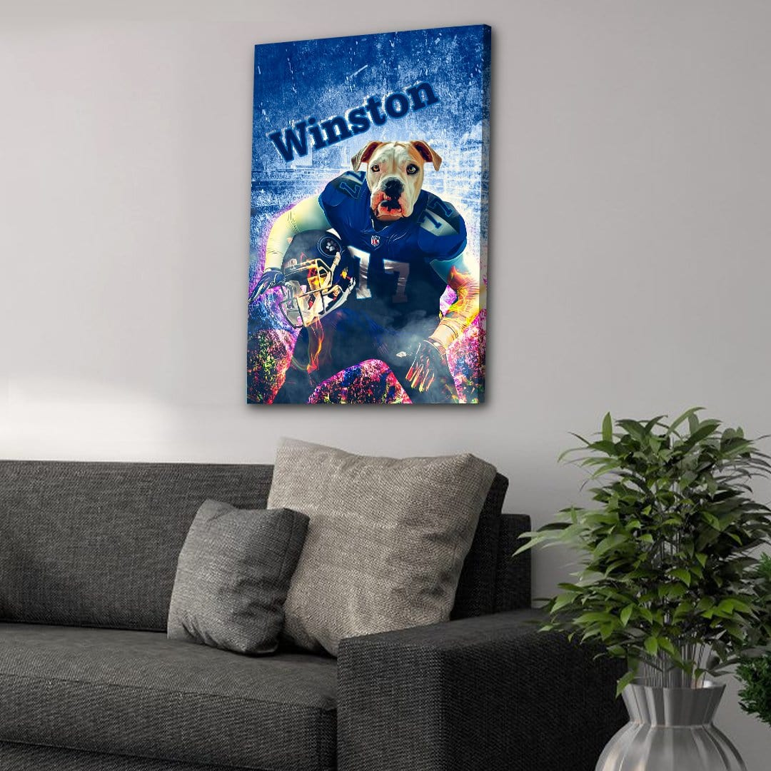'Tennesee Doggos' Personalized Dog Canvas