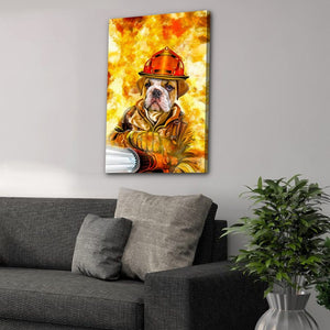 'The Firefighter' Personalized Pet Canvas