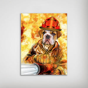 'The Firefighter' Personalized Dog Poster