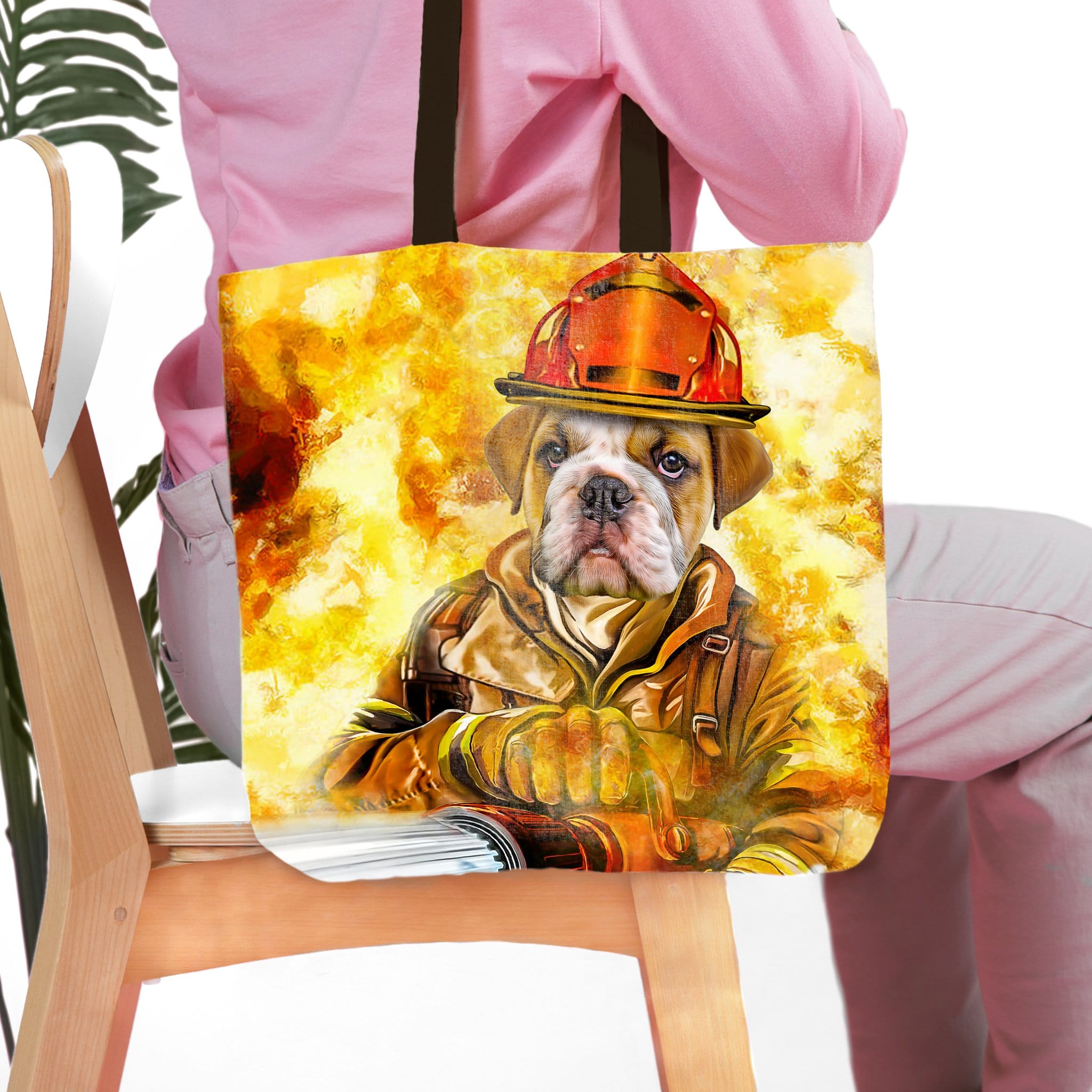 'The Firefighter' Personalized Tote Bag