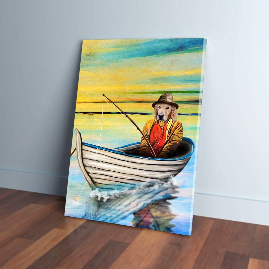 'The Fisherman' Personalized Pet Canvas