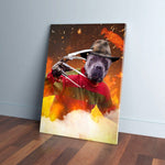 'Freddy Woofer' Personalized Pet Canvas
