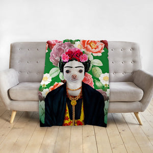 'Frida Doggo' Personalized Pet Blanket