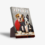 'Furends' Personalized 2 Pet Standing Canvas