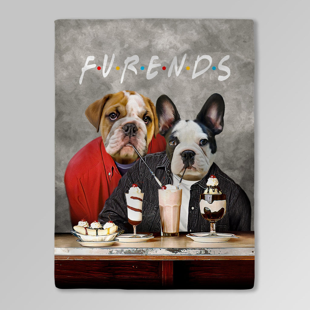 'Furends' Personalized 2 Pet Blanket