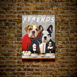 'Furends' Personalized 2 Pet Poster
