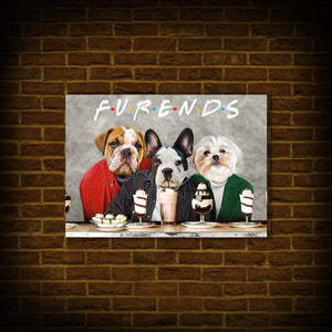 'Furends' Personalized 3 Pet Poster