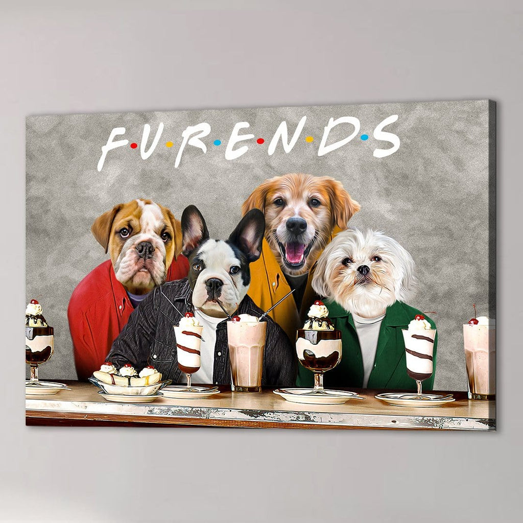 'Furends' Personalized 4 Pet Canvas
