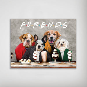 'Furends' Personalized 4 Pet Poster