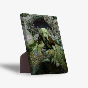 'The Goblin' Personalized Pet Standing Canvas