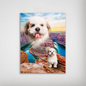 'Majestic Canyon' Personalized Pet Poster