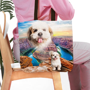 'Majestic Canyon' Personalized Pet Tote Bag