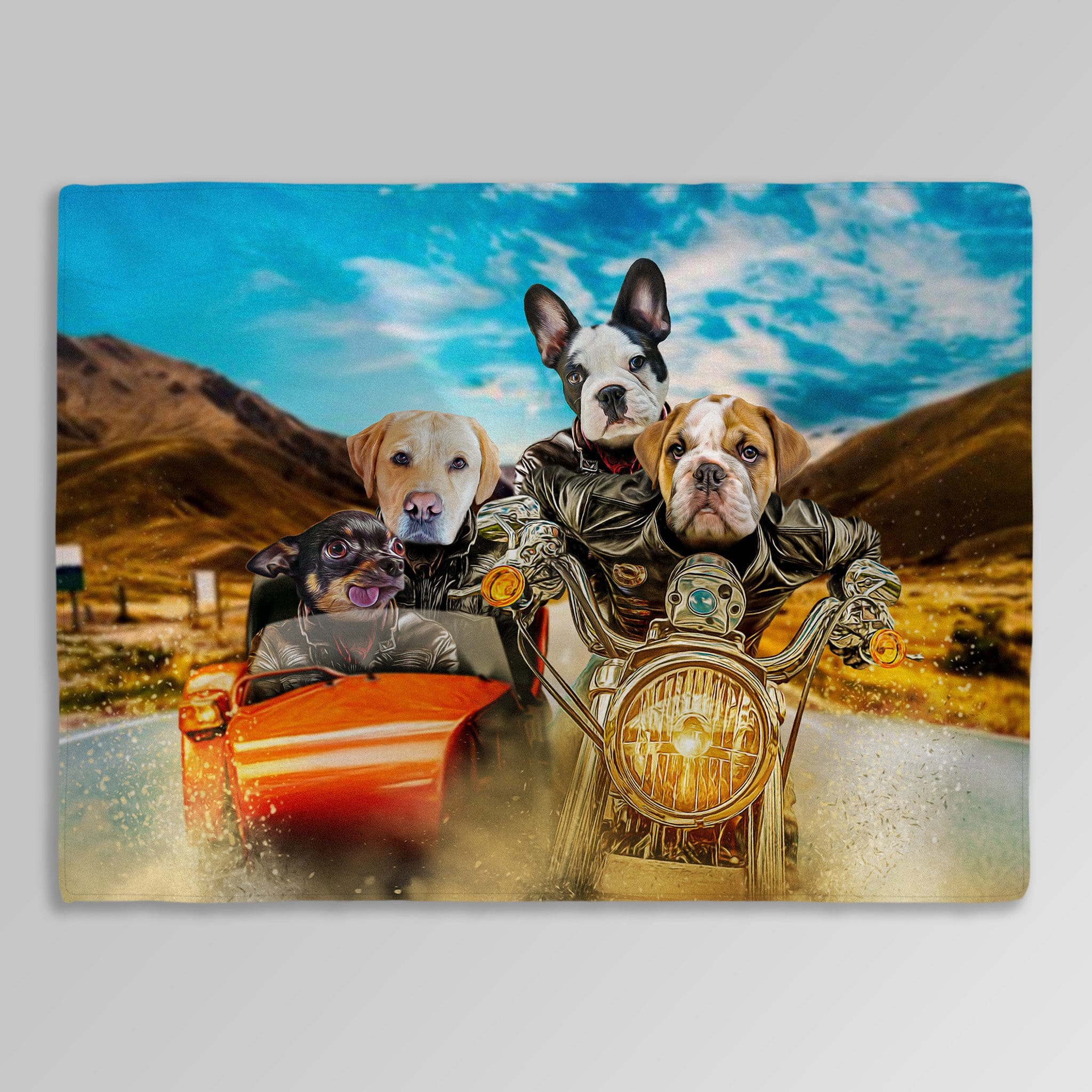 'Harley Wooferson' Personalized 4 Pet Blanket