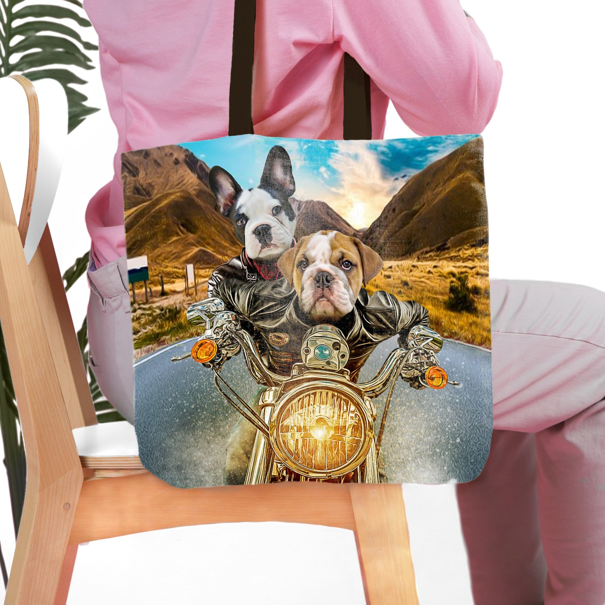 'Harley Wooferson' Personalized 2 Pet Tote Bag