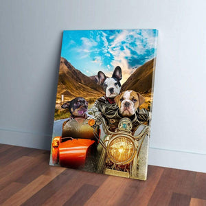 'Harley Wooferson' Personalized 3 Pet Canvas