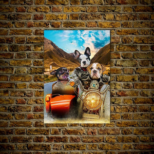 'Harley Wooferson' Personalized 3 Pet Poster