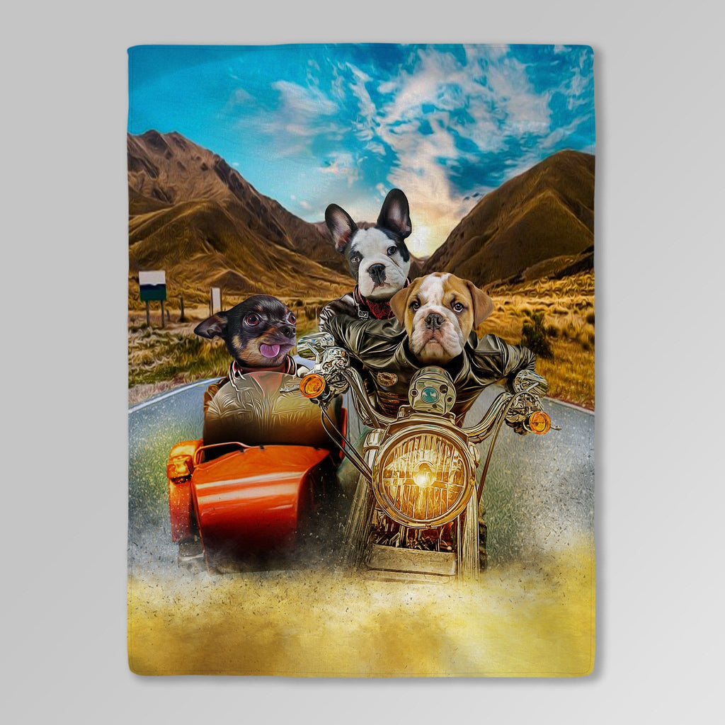 'Harley Wooferson' Personalized 3 Pet Blanket