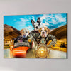 'Harley Wooferson' Personalized 4 Pet Canvas