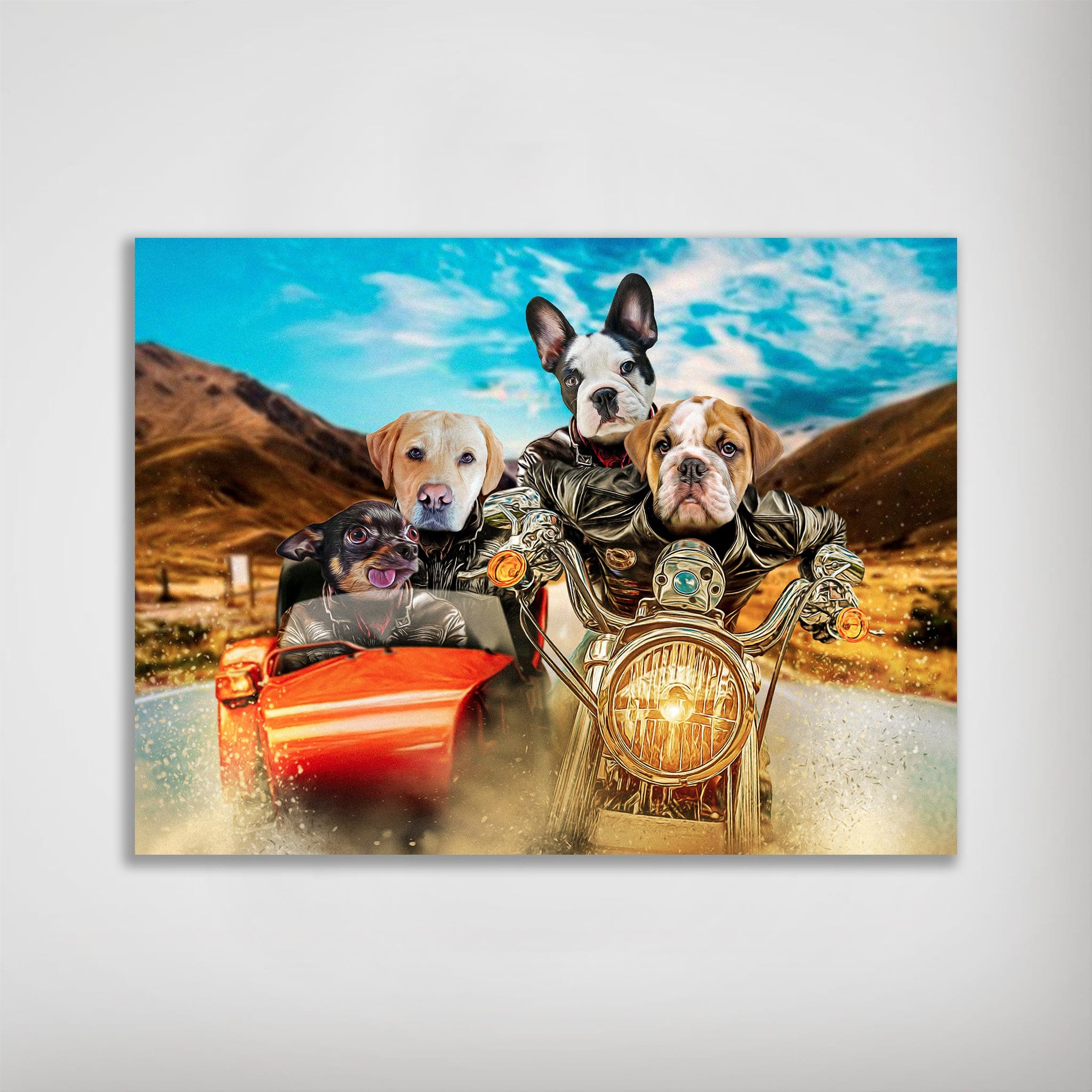 'Harley Wooferson' Personalized 4 Pet Poster