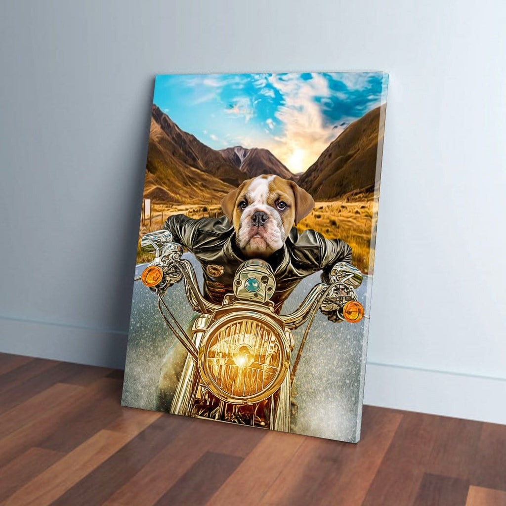 'Harley Wooferson' Personalized Pet Canvas