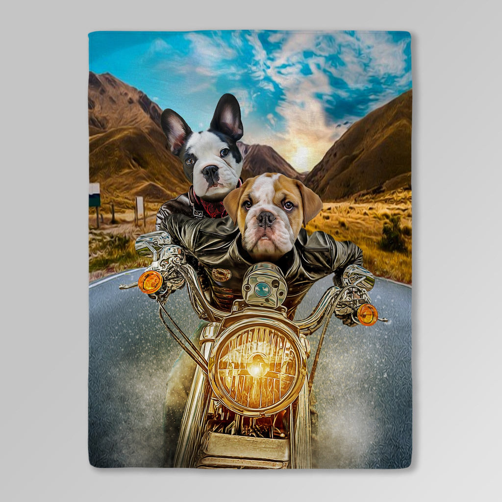 'Harley Wooferson' Personalized 2 Pet Blanket