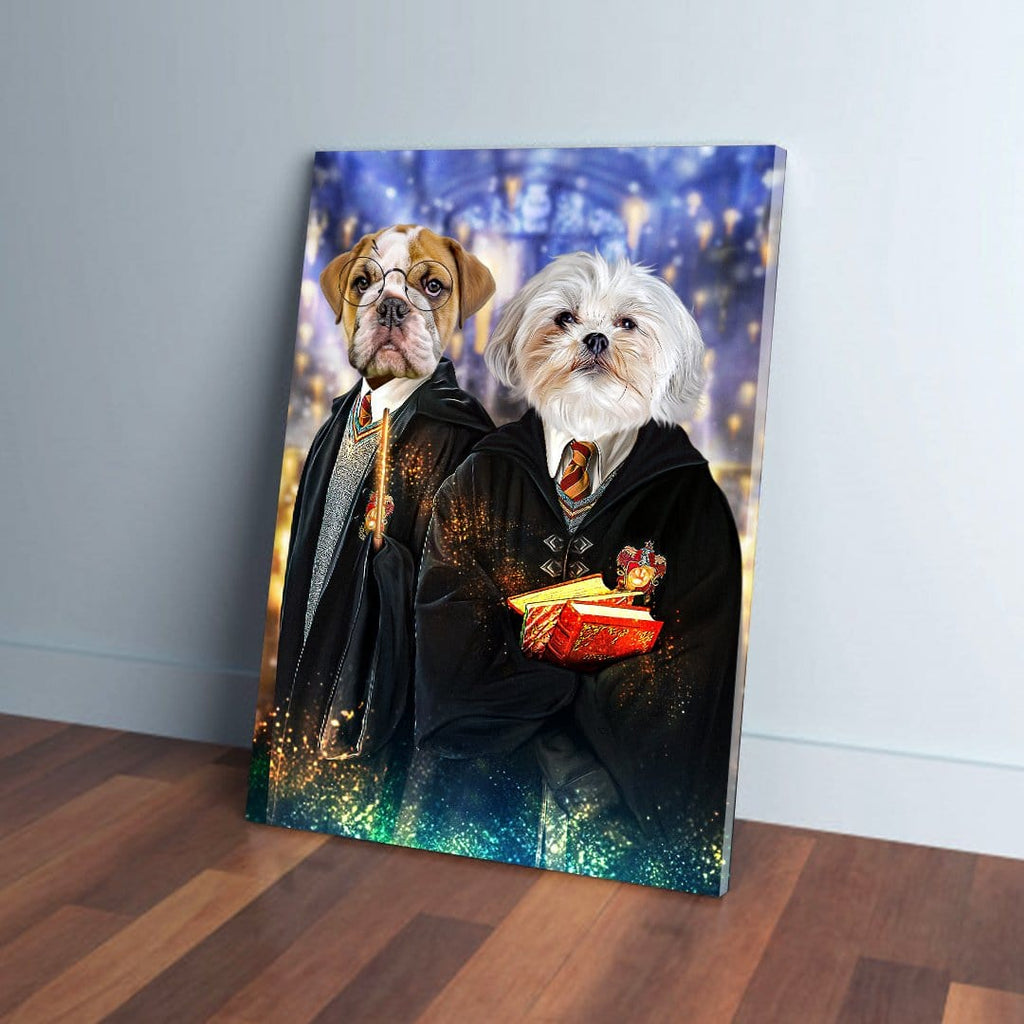 'Harry Doggers 2' Personalized 2 Pet Canvas