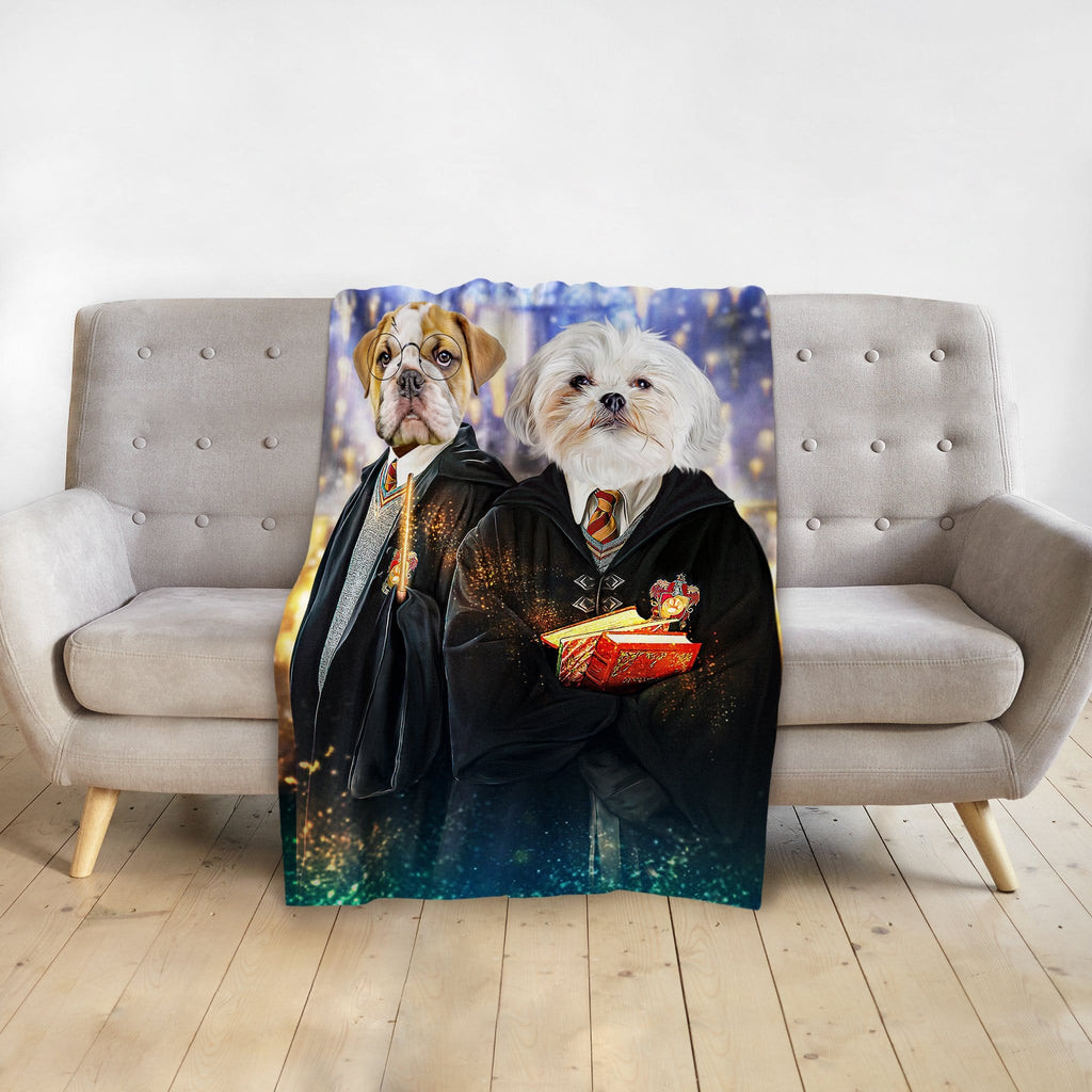 'Harry Dogger 2' Personalized 2 Pet Blanket