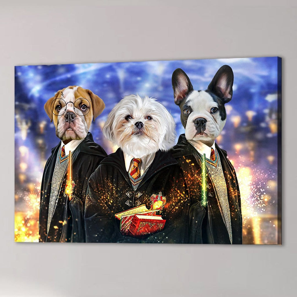 'Harry Doggers 3' Personalized 3 Pet Canvas