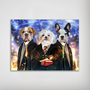 'Harry Doggers 3' Personalized 3 Pet Poster