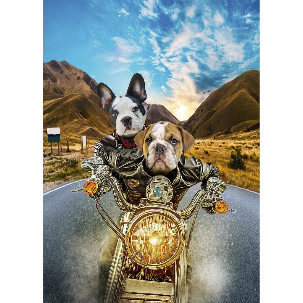 'Harley Wooferson' 2 Pet Digital Portrait