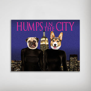'Humps in the City' Personalized 2 Pet Poster