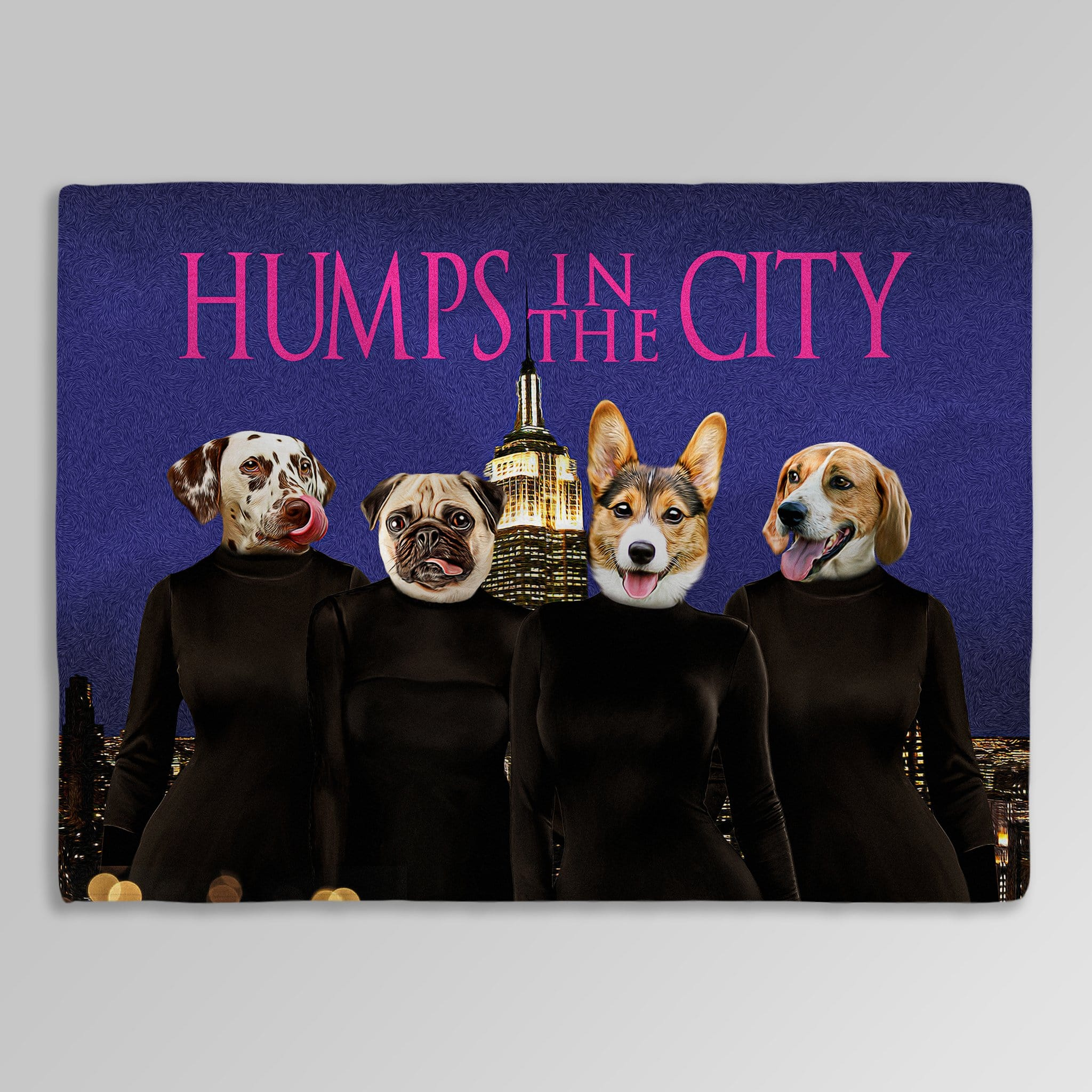'Humps in the City' Personalized 4 Pet Blanket