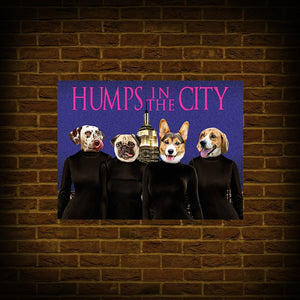 'Humps in the City' Personalized 4 Pet Poster