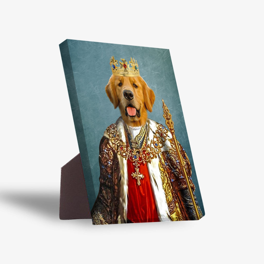 'The King' Personalized Pet Standing Canvas