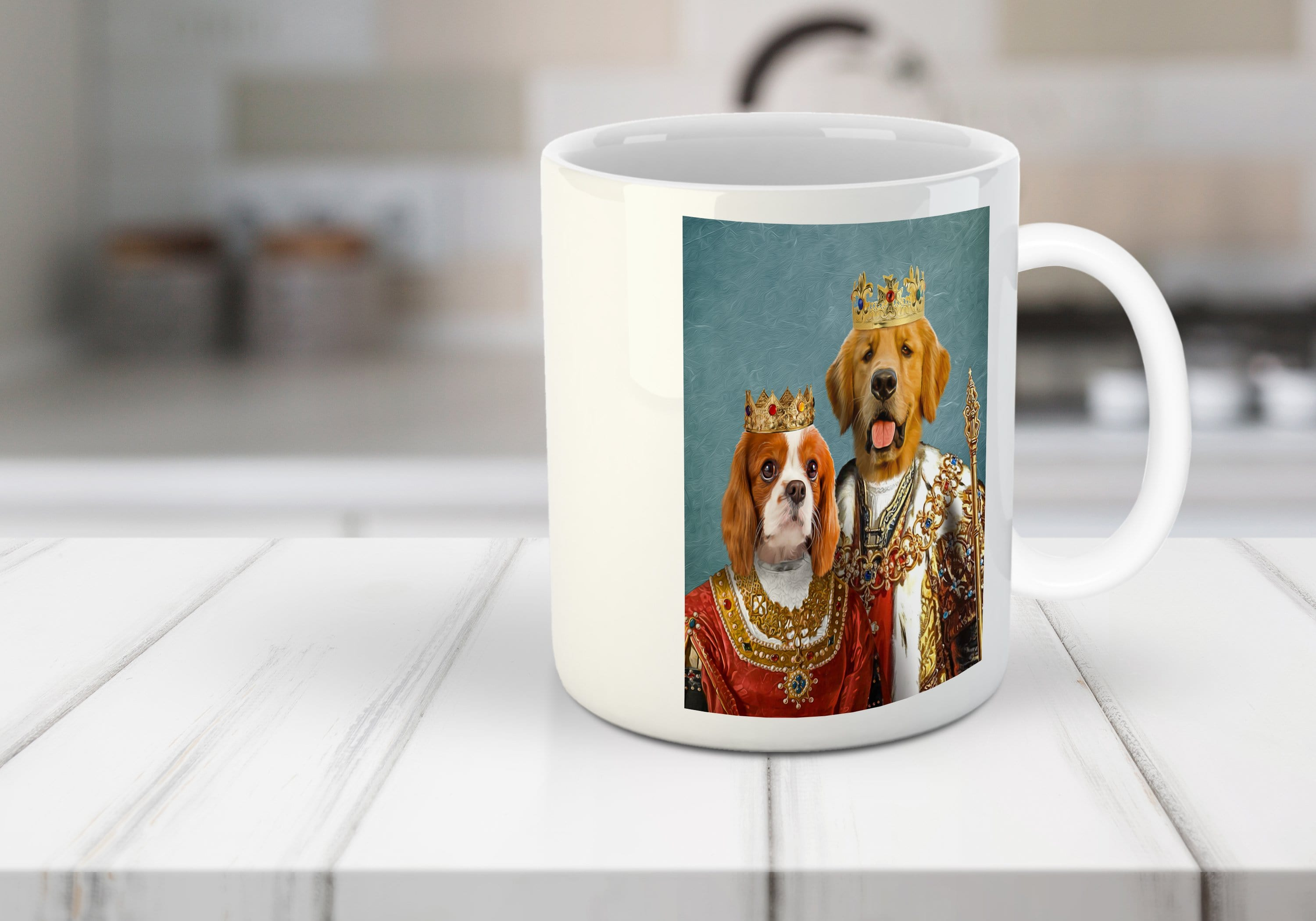 King and Queen Personalized 2 Pet Mug