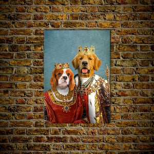 King and Queen: Personalized 2 Pet Poster