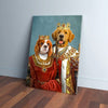 'King and Queen' Personalized 2 Pet Canvas