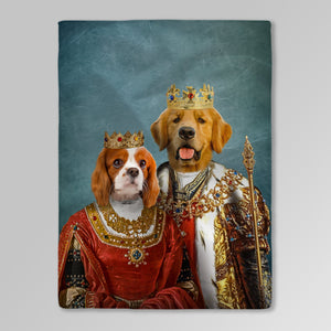 'King and Queen' Personalized 2 Pet Blanket