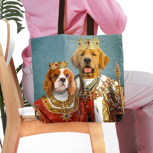 'King and Queen' Personalized 2 Pet Tote Bag