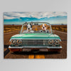 'The Lowrider' Personalized 2 Pet Blanket