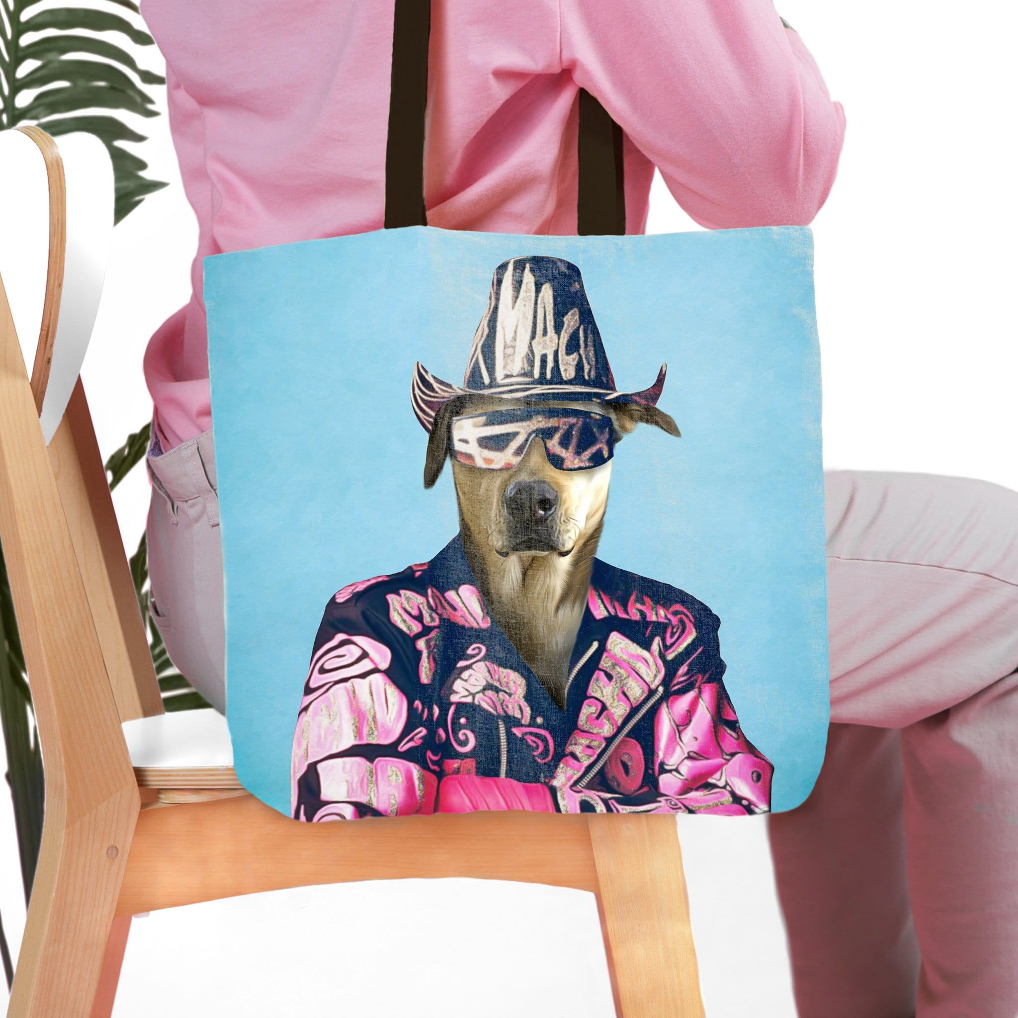 'Macho Man Randy Doggo' Personalized Tote Bag