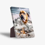 'Majestic Snowy Mountain' Personalized Pet Standing Canvas
